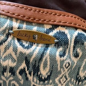 Lucky Brand Tote Ikat style print